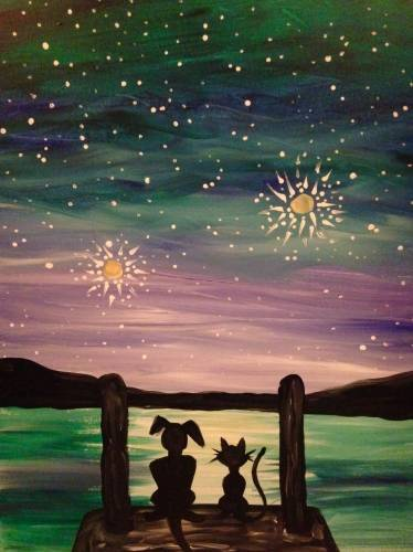 A Best Friends II paint nite project by Yaymaker