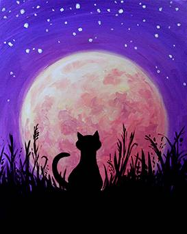 A Harvest Moon Kitty paint nite project by Yaymaker