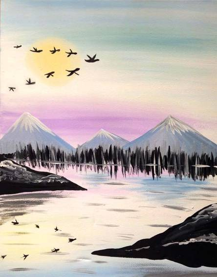 A Winter is Coming paint nite project by Yaymaker