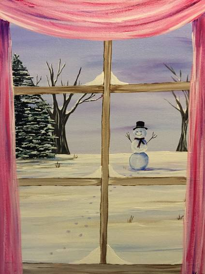 A Its Cold Outside paint nite project by Yaymaker