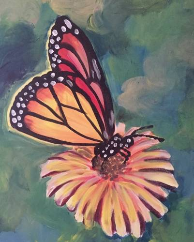 A Golden Butterfly paint nite project by Yaymaker