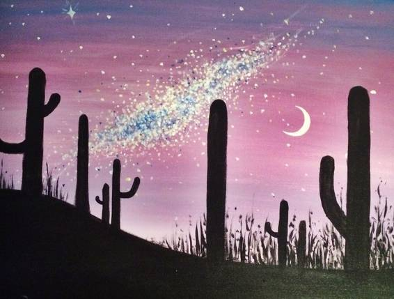 A Desert Milkyway paint nite project by Yaymaker