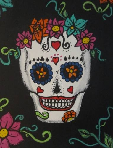 A Sweet Calavera Sugar Skull paint nite project by Yaymaker