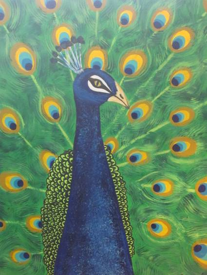 A PRETTIEST PEACOCK paint nite project by Yaymaker
