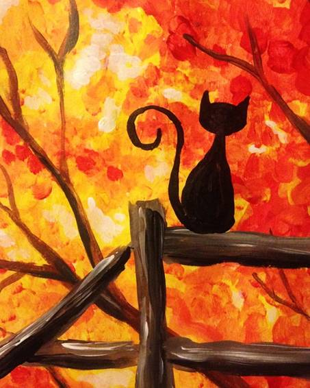 A Autumn View paint nite project by Yaymaker