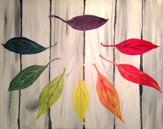 A Leaf Palette paint nite project by Yaymaker