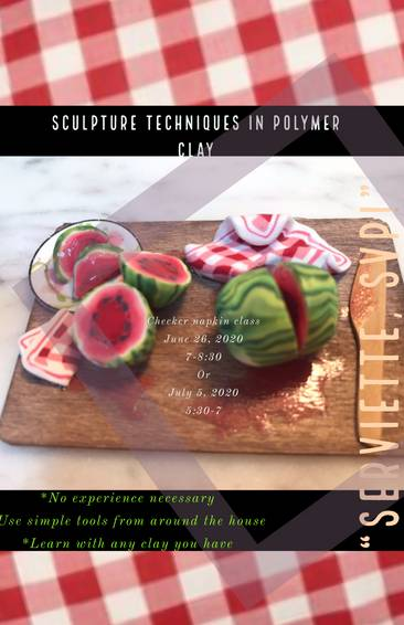 A Serviette SVP sculpture class in polymer clay  experience project by Yaymaker