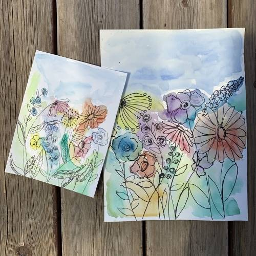 A Watercolour Flower Doodle experience project by Yaymaker