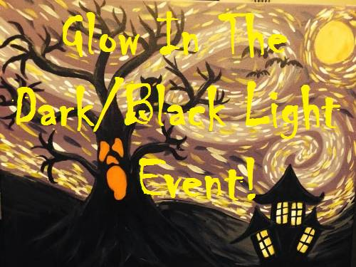 A Scary Scary Night Glow In The Dark  Black Light paint nite project by Yaymaker