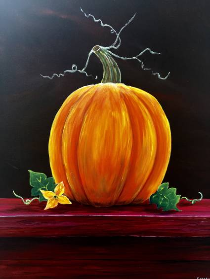 A The Perfect Pumpkin paint nite project by Yaymaker