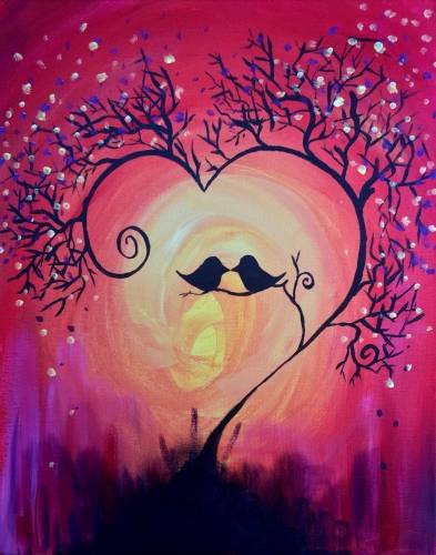 A Falling In Love paint nite project by Yaymaker