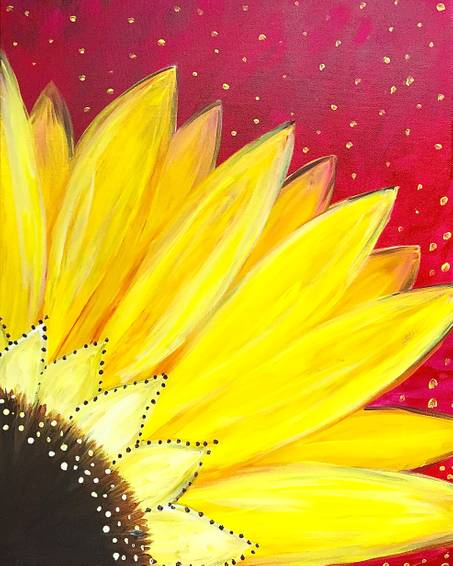 A Sunflower Burst paint nite project by Yaymaker