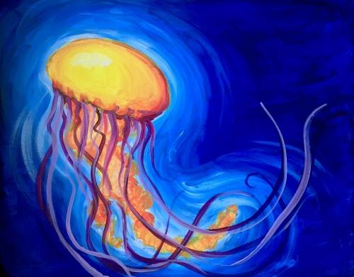 A Jellyfish Glow paint nite project by Yaymaker