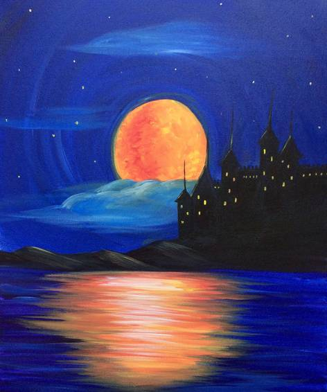 A Night Castle paint nite project by Yaymaker