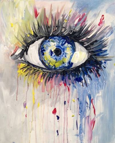 A Big Girls Dont Cry paint nite project by Yaymaker
