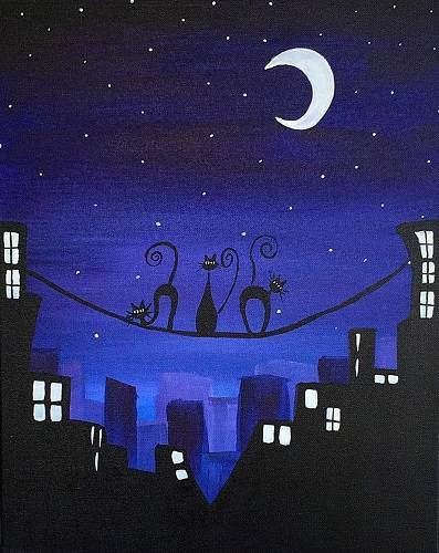 A On the Cat Walk paint nite project by Yaymaker