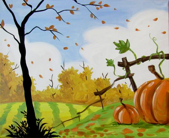 A Embrace the Fall paint nite project by Yaymaker