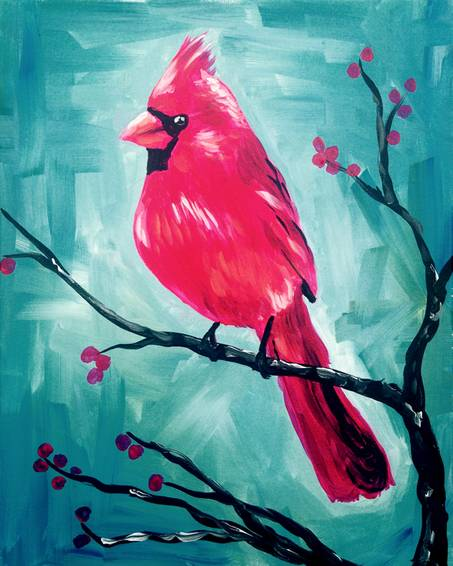 A Crimson Cardinal paint nite project by Yaymaker
