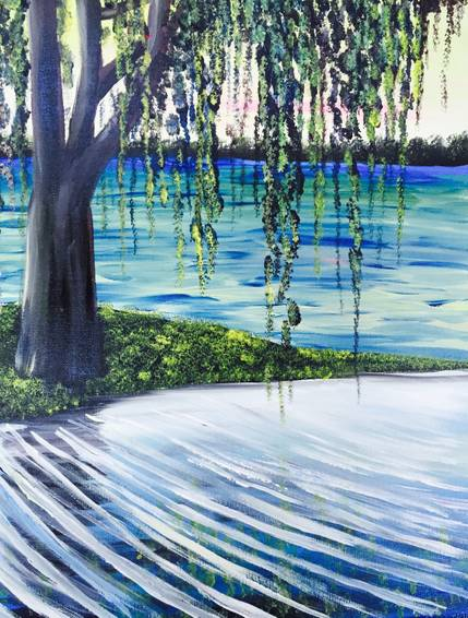 A Spanish Moss paint nite project by Yaymaker