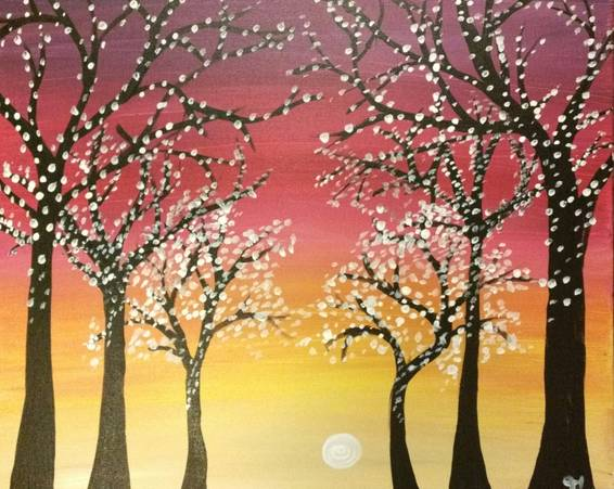 A A Path of Lights paint nite project by Yaymaker