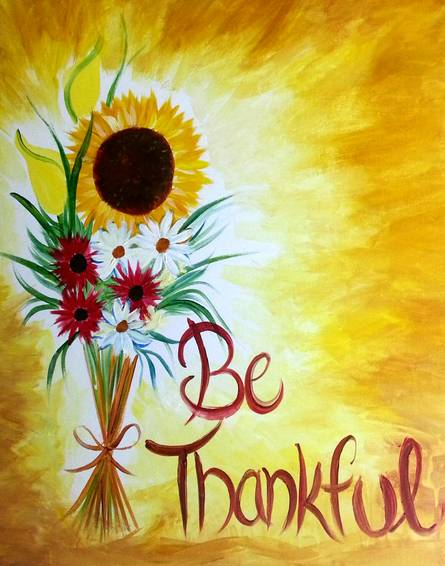 A Be Thankful paint nite project by Yaymaker