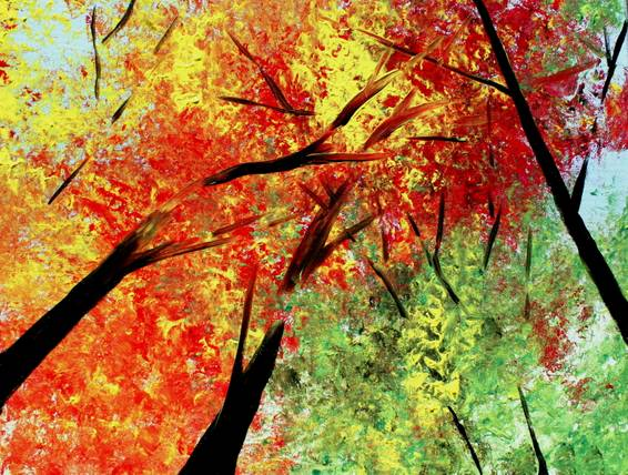 A Fall is Upon Us paint nite project by Yaymaker