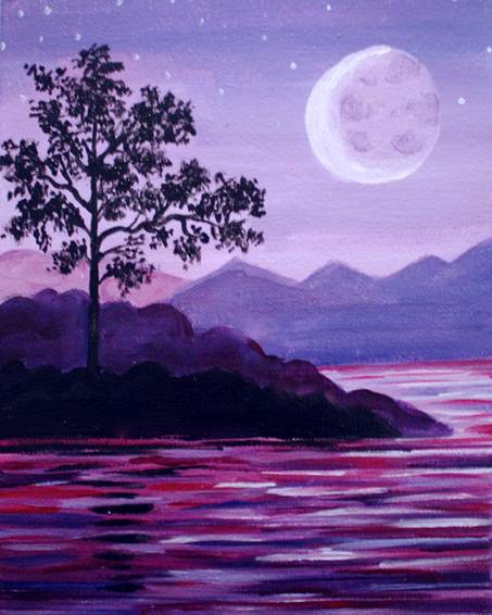 A Violet Crescent Bay paint nite project by Yaymaker