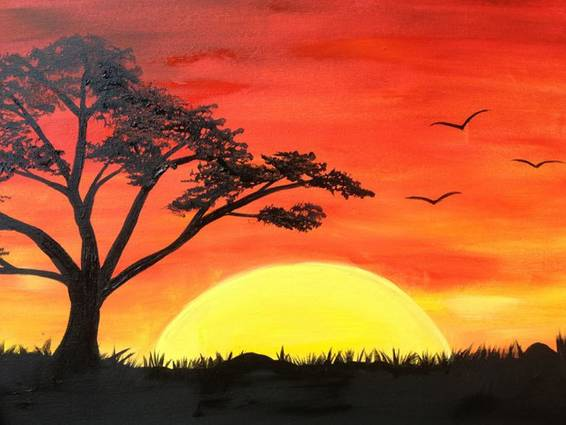 A African Sun paint nite project by Yaymaker