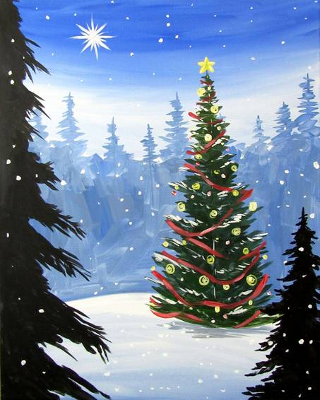 A The Chosen Tree paint nite project by Yaymaker