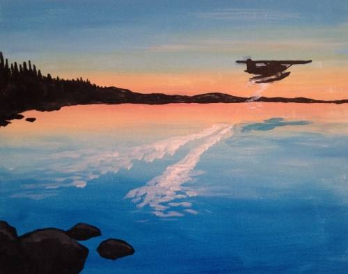 A Taking Flight into Adventure paint nite project by Yaymaker