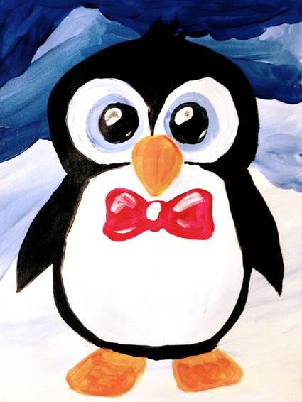A Spiffy Penguin paint nite project by Yaymaker