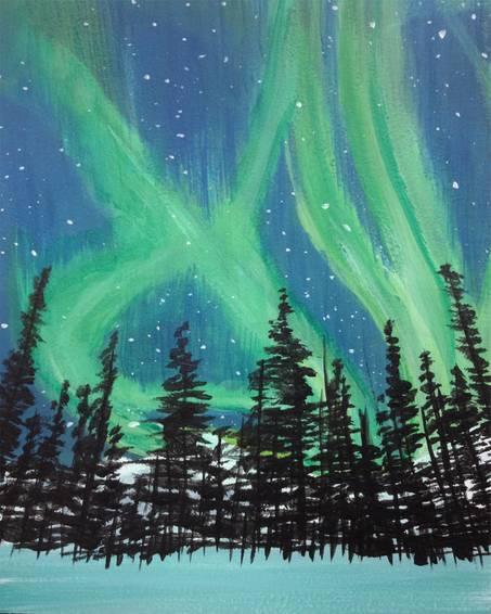 A Yukon Night paint nite project by Yaymaker