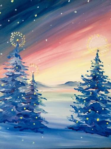A Winter Glow II paint nite project by Yaymaker