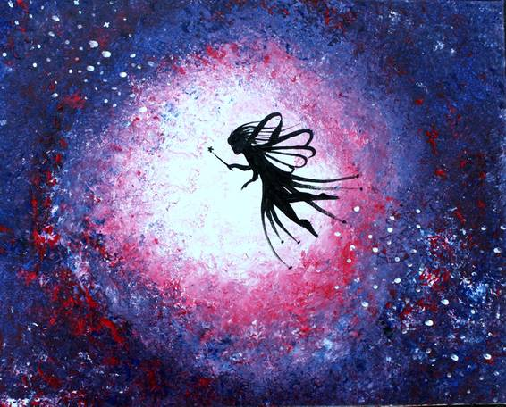 A Fairy Dust Galaxy paint nite project by Yaymaker