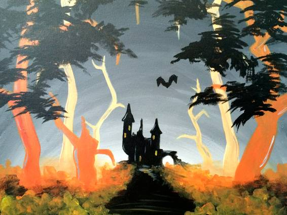 A Haunted Castle paint nite project by Yaymaker