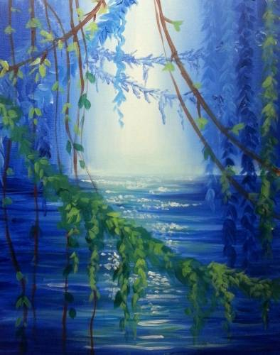 A Blue Lagoon II paint nite project by Yaymaker