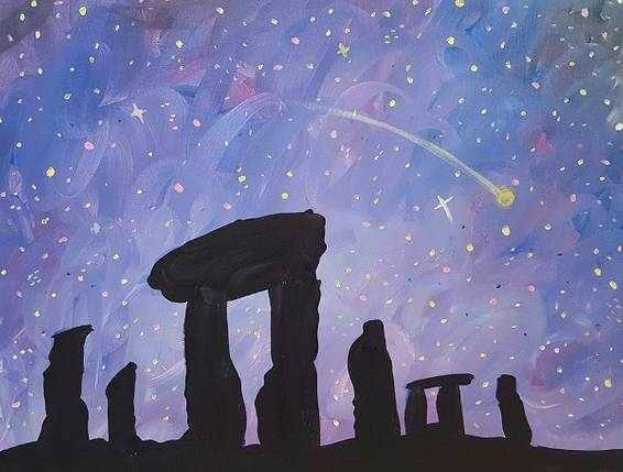 A Rock Hard Magic paint nite project by Yaymaker