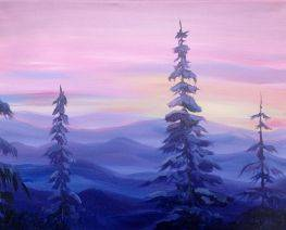 A Sunrise over the Wasatch Range paint nite project by Yaymaker