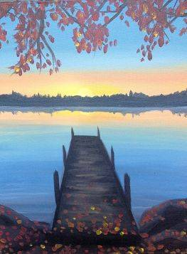 A Sittin on the Dock of the Bay paint nite project by Yaymaker