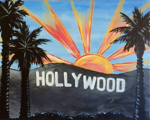 A Hollywood Sun paint nite project by Yaymaker