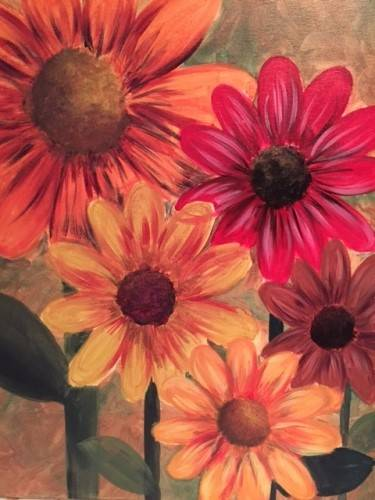 A Harvest Daisies paint nite project by Yaymaker