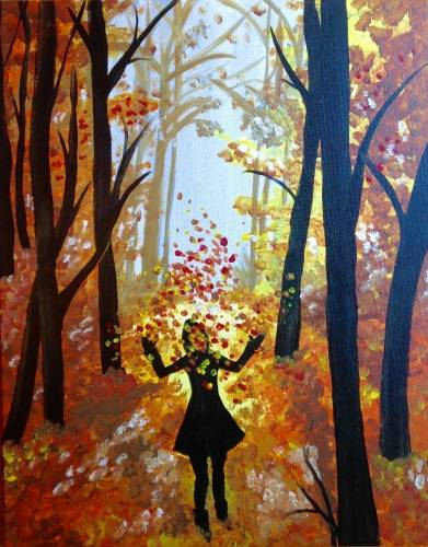 A Autumn Falling paint nite project by Yaymaker