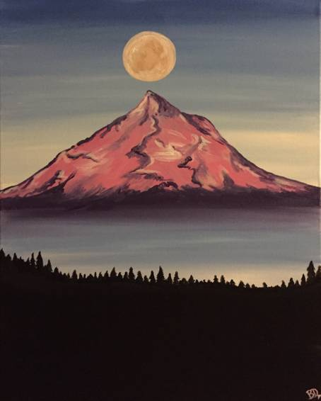 A Mount Hood Moon paint nite project by Yaymaker