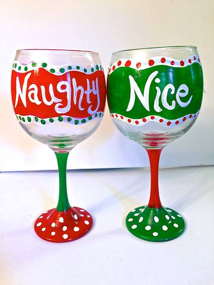 A Naughty and Nice paint nite project by Yaymaker
