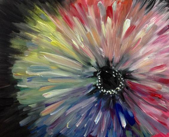 A Andromeda Flower paint nite project by Yaymaker