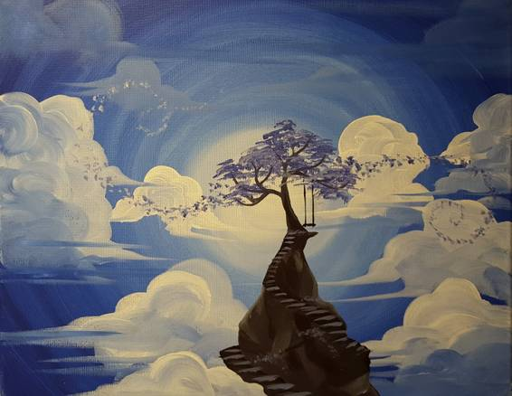 A Drifting into a Dream paint nite project by Yaymaker