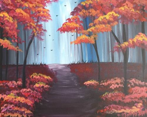 A Autumn Path II paint nite project by Yaymaker