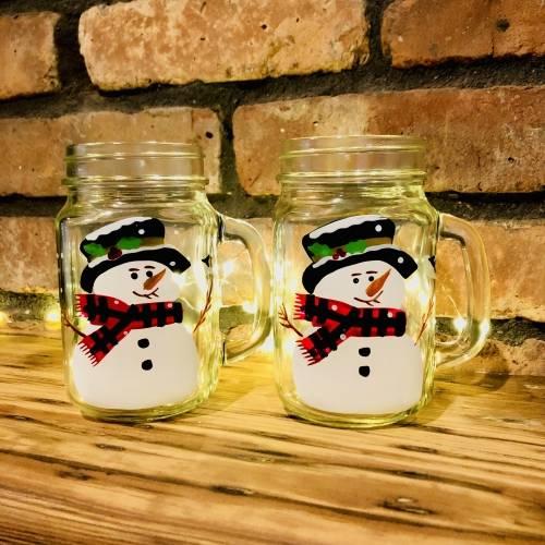 A Snowmen Mason Jars experience project by Yaymaker