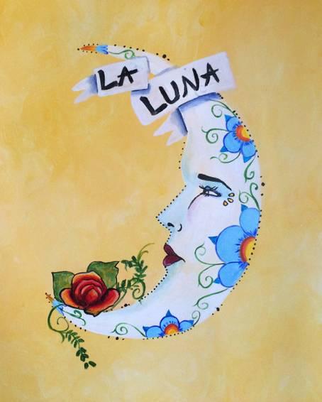 A La Luna en Rosa paint nite project by Yaymaker