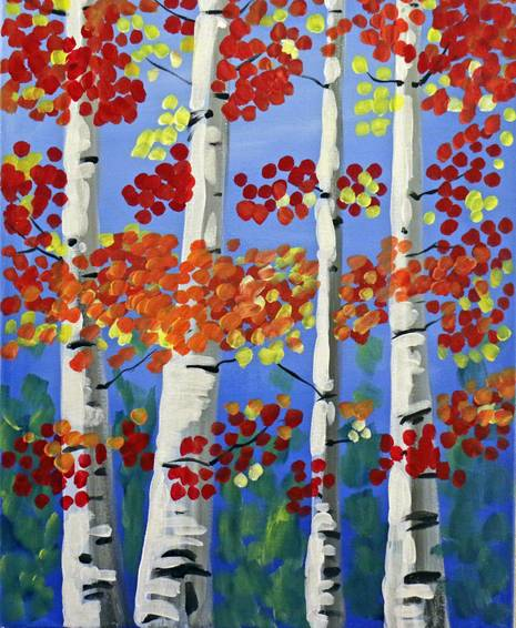 A Fall Beauty paint nite project by Yaymaker